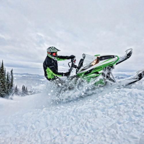 Winter Snowmobile and Ski