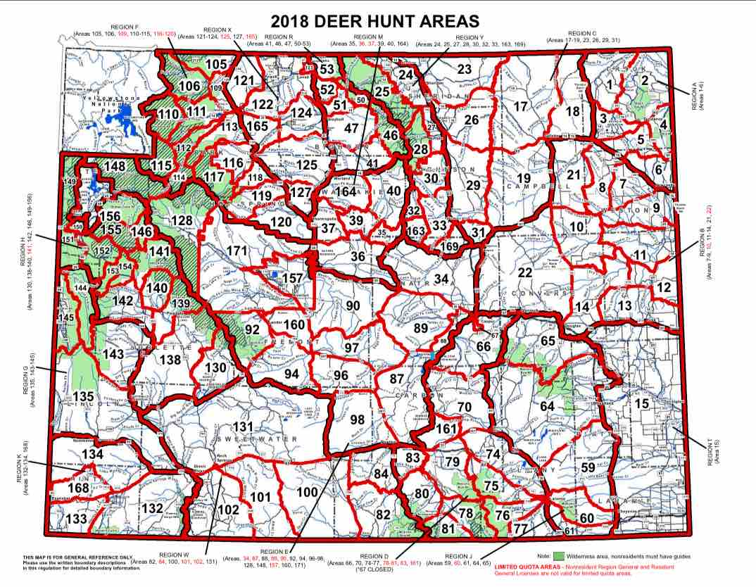 Deer Hunt Area Map